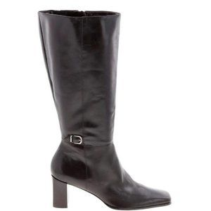 Michele D Tall Brown Leather Boots Size 10W